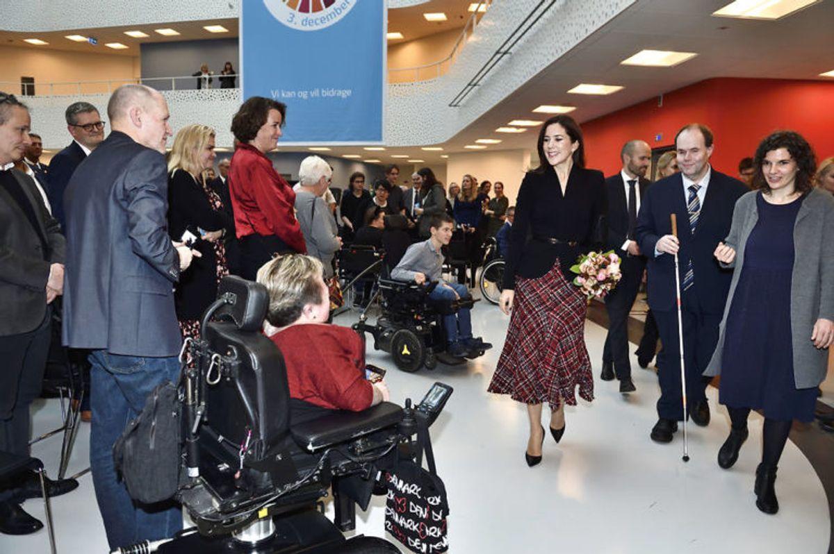 Kronprinsesse Mary markerede FNs handicapdag i Handicaporganisationernes Hus. KLIK FOR FLERE BILLEDER. (Foto: Tariq Mikkel Khan/Ritzau Scanpix)