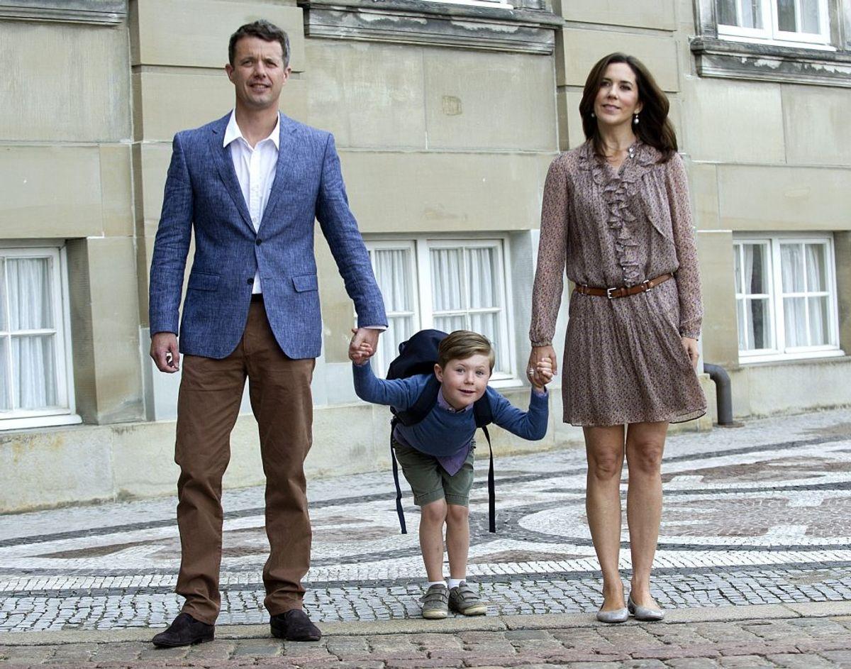 Prins Christian startede på Tranegårdsskolen i Hellerup i 2011. Foto: Scanpix