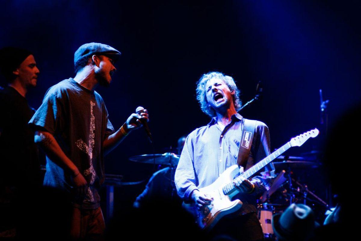 Mek Peks søn Emil Falk er blandt andet guitarist i det danske band Flødeklinikken. Foto: Scanpix