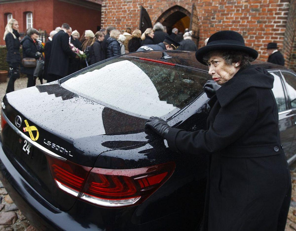 Prinsesse Elisabeth ankommer til en begravelse tilbage i 2014. Arkivfoto: Scanpix