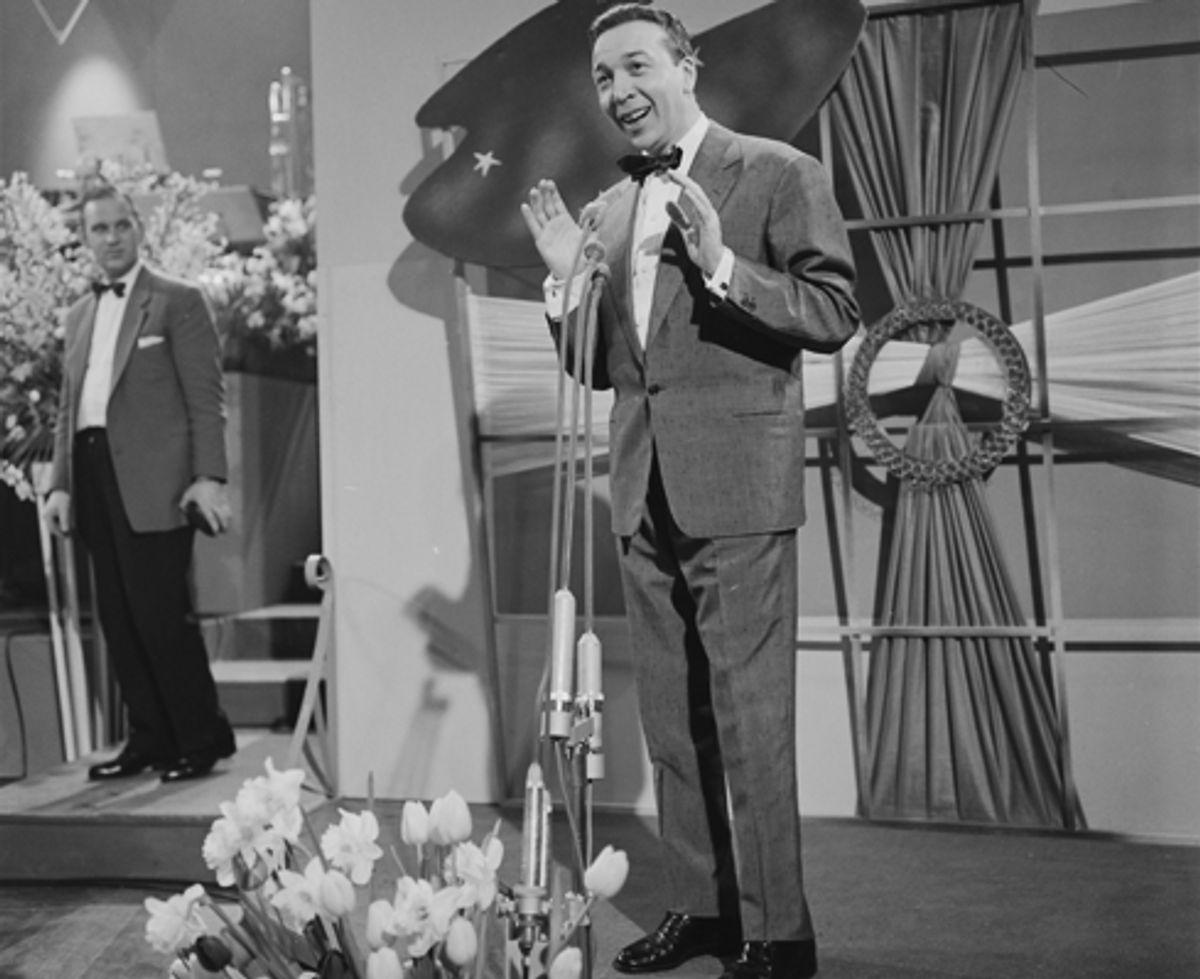 """1958: Frankrig vandt dette år med sangeren André Claveau og nummeret """"Dors mon amour"""". Foto: Hollandsk tv/Wikipedia (Arkivfoto)"""