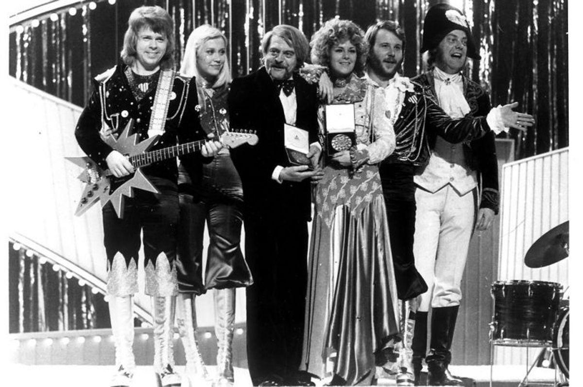 """1974: Det var året, hvor den svenske popgruppe Abba for alvor blev kendt. Abba vandt med sangen """"Waterloo"""" og de efterfølgende mange år leverede gruppen hits på stribe. Foto: Scanpix (Arkivfoto)"""