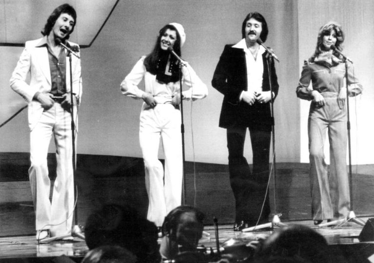 """1976: Sejren gik til Storbritanniens Brotherhood of Man med det nu legendariske hit """"Save your kisses for me"""". Foto: Scanpix (Arkivfoto)"""
