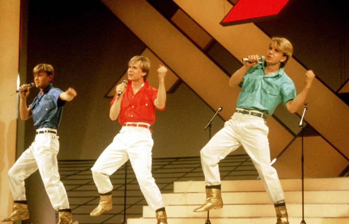 1984: Sverige løb med sejren dette år. Brødrene Herreys fik et kæmpehit med Diggi-loo-diggi-ley. Foto: Bent K Rasmussen/Scanpix (Arkivfoto)