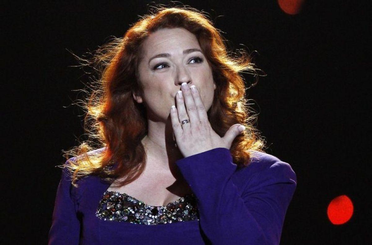 """1993: Irland vandt igen. Denne gang med sangerinden Niamh Kavanagh og sangen """"In your eyes"""". Foto: Bob Strong/Scanpix (Arkivfoto)"""