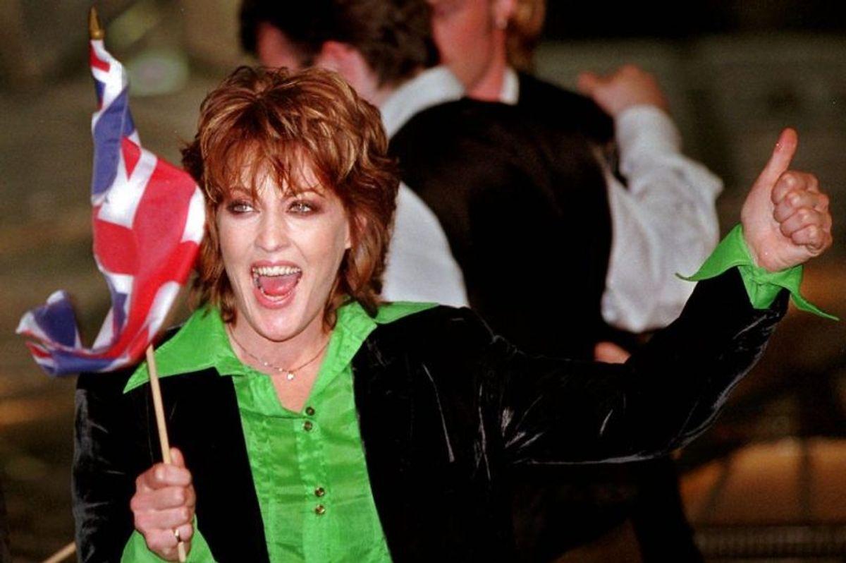 """1997: Katrine & The Waves vandt dette år for Storbritannien med sangen """"Love shine a light"""". Foto: NILS MEILVANG/Scanpix (Arkivfoto)"""