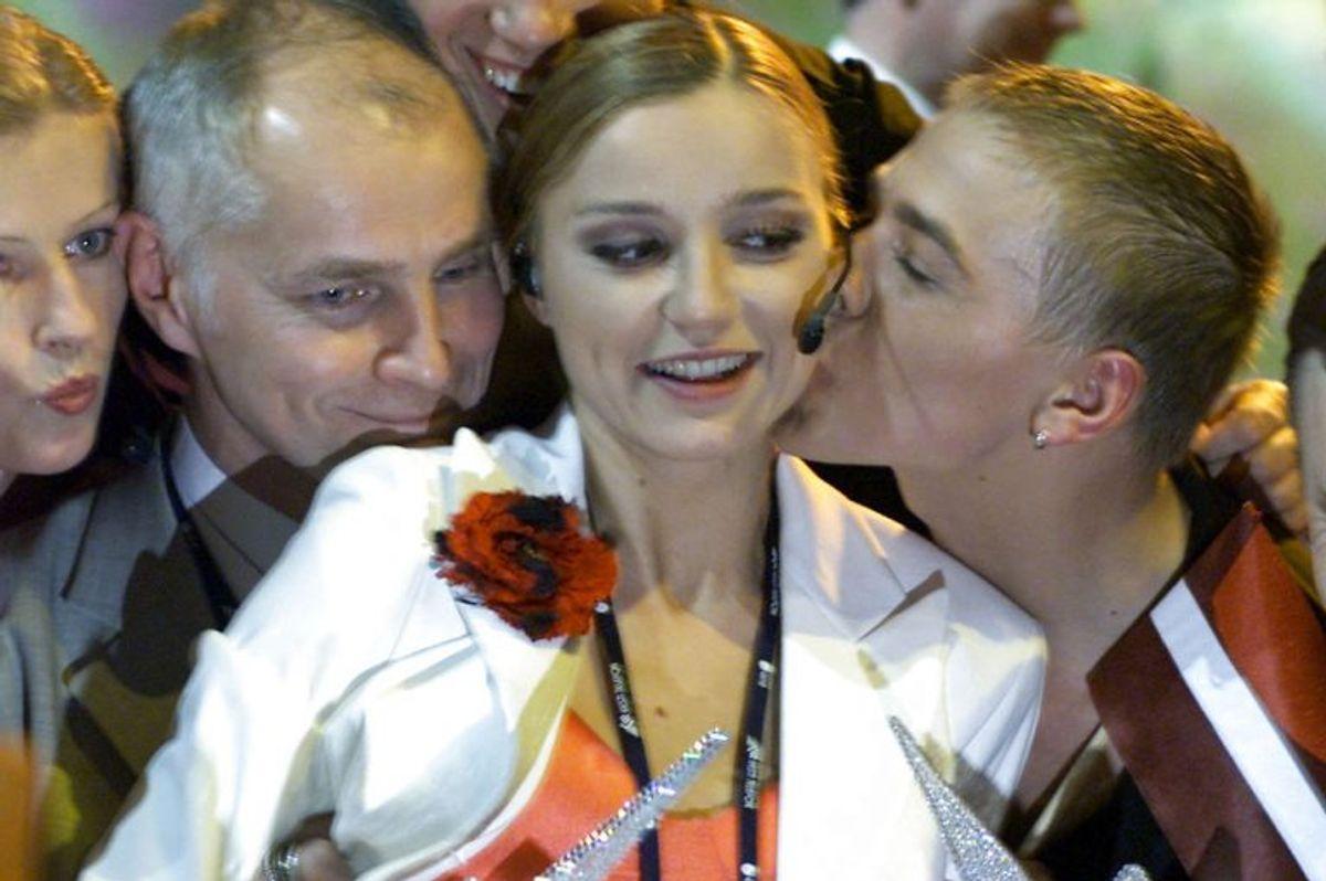 """2002: Letland vandt med sangerinden Marie N og sangen """"I wanna"""". Foto: Alexander Demianchuk/Scanpix (Arkivfoto)"""