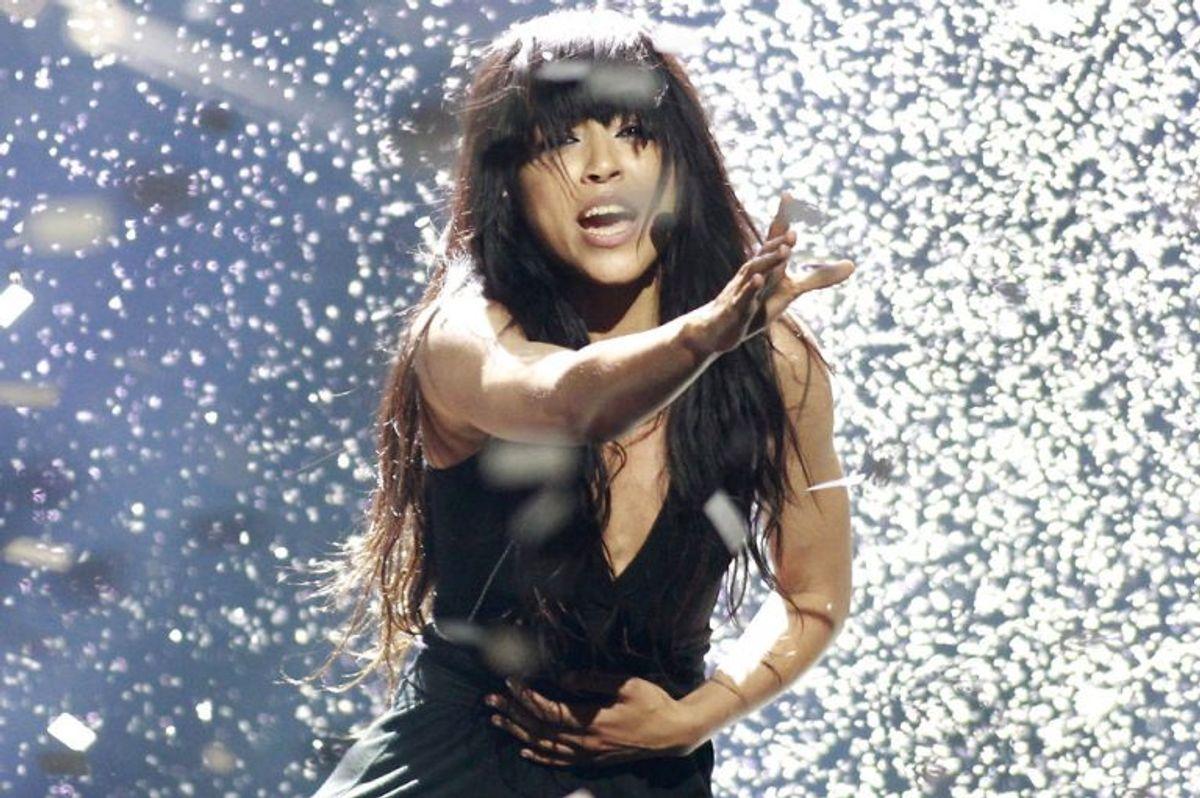 """2012: Sveriges Loreen kunne trække sig ud som vinder af Eurovision Song Contest med """"Euphoria"""". Foto: David Mdzinarishvili/Scanpix (Arkivfoto)"""