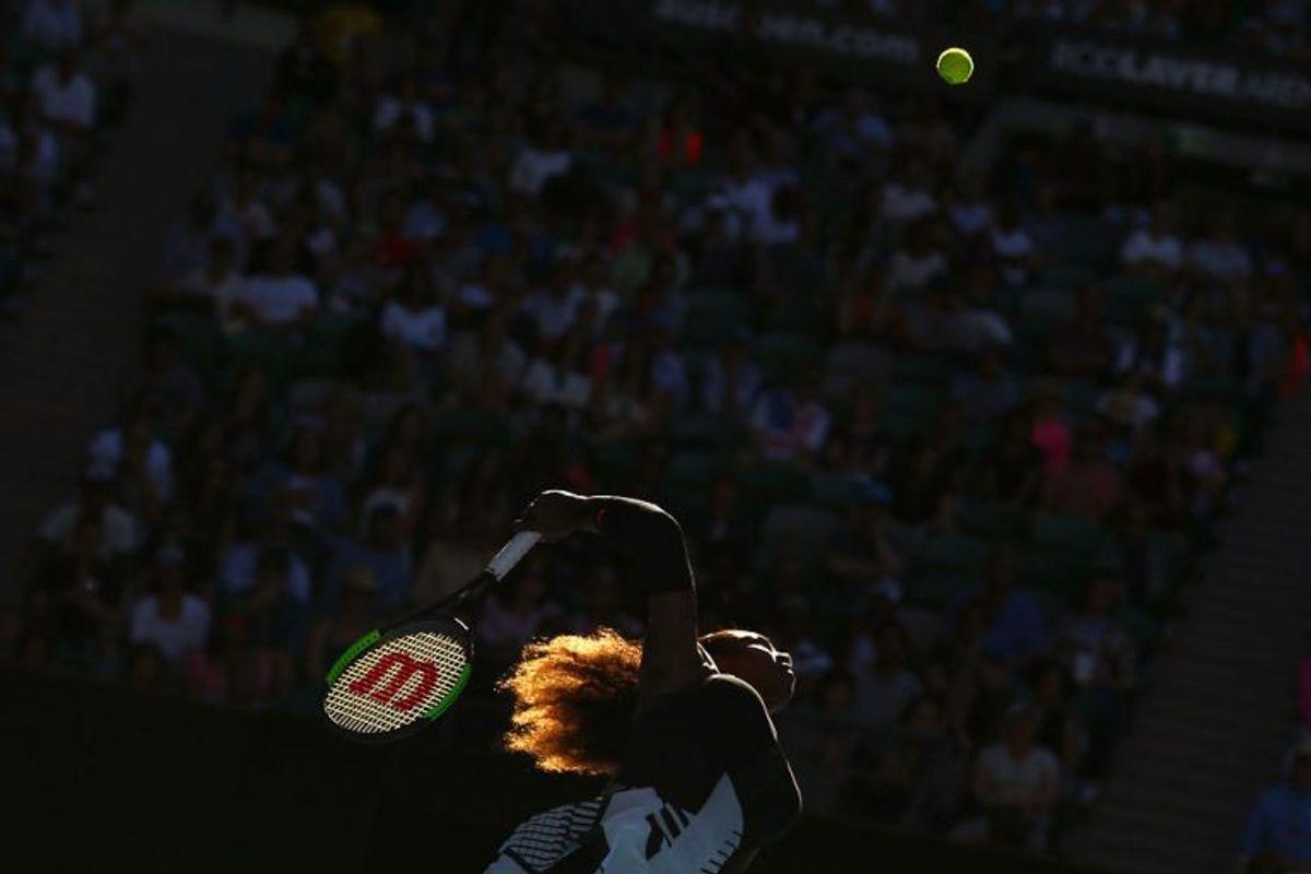 Serena Williams var tæt på at dø efter sin datters fødsel sidste år. Billedet er fra Australian Open i januar 2017 – en turnering, som Serena Williams vandt. Arkivfoto: Thomas Peter/Scanpix