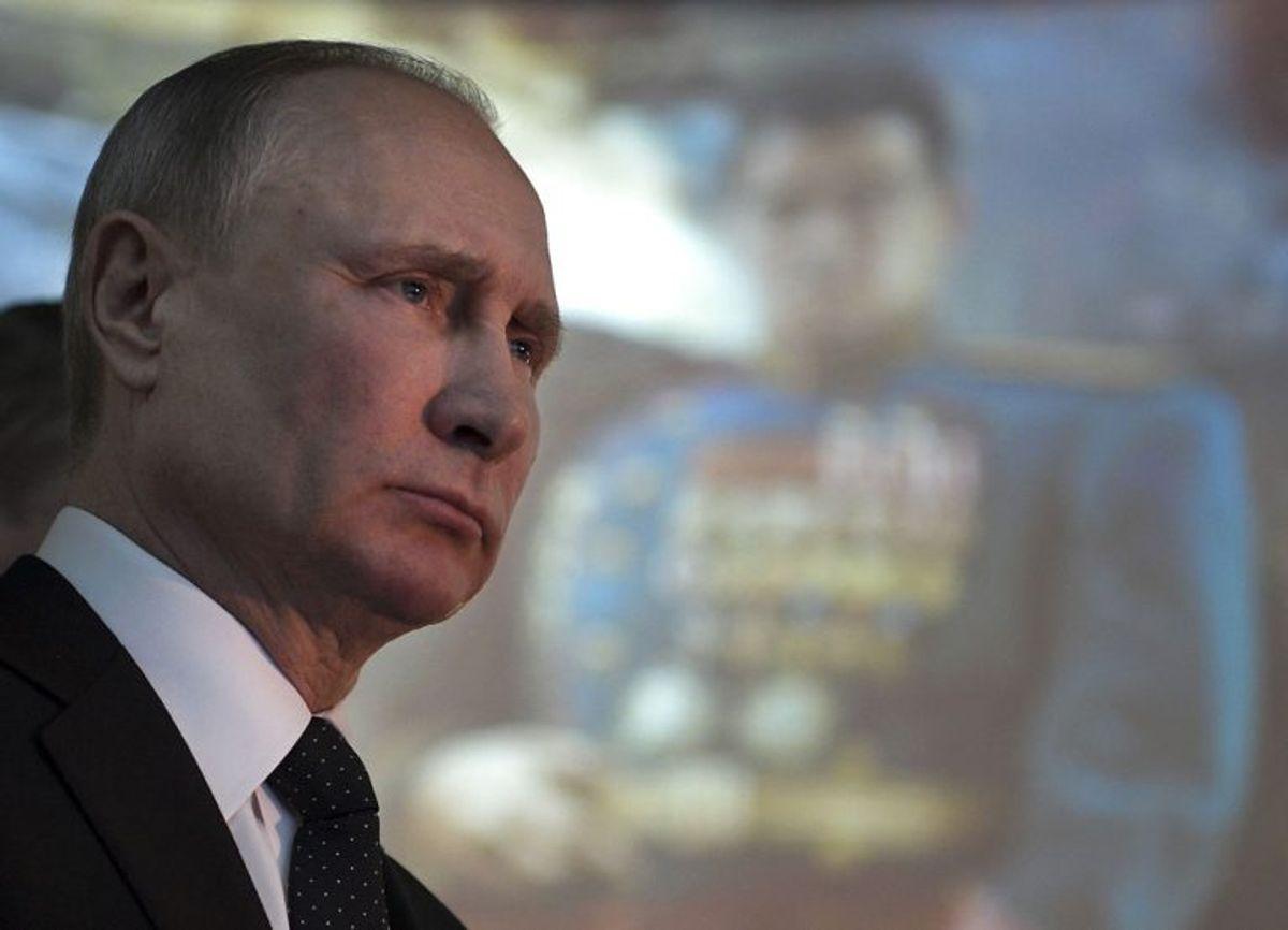 Ruslands præsident, Vladimir Putin, har sendt et kondolencebrev til dronning Margrethe efter prins Henriks død på Fredensborg Slot natten til onsdag 14. februar. Foto: Alexei Druzhinin/Scanpix (Arkivfoto)