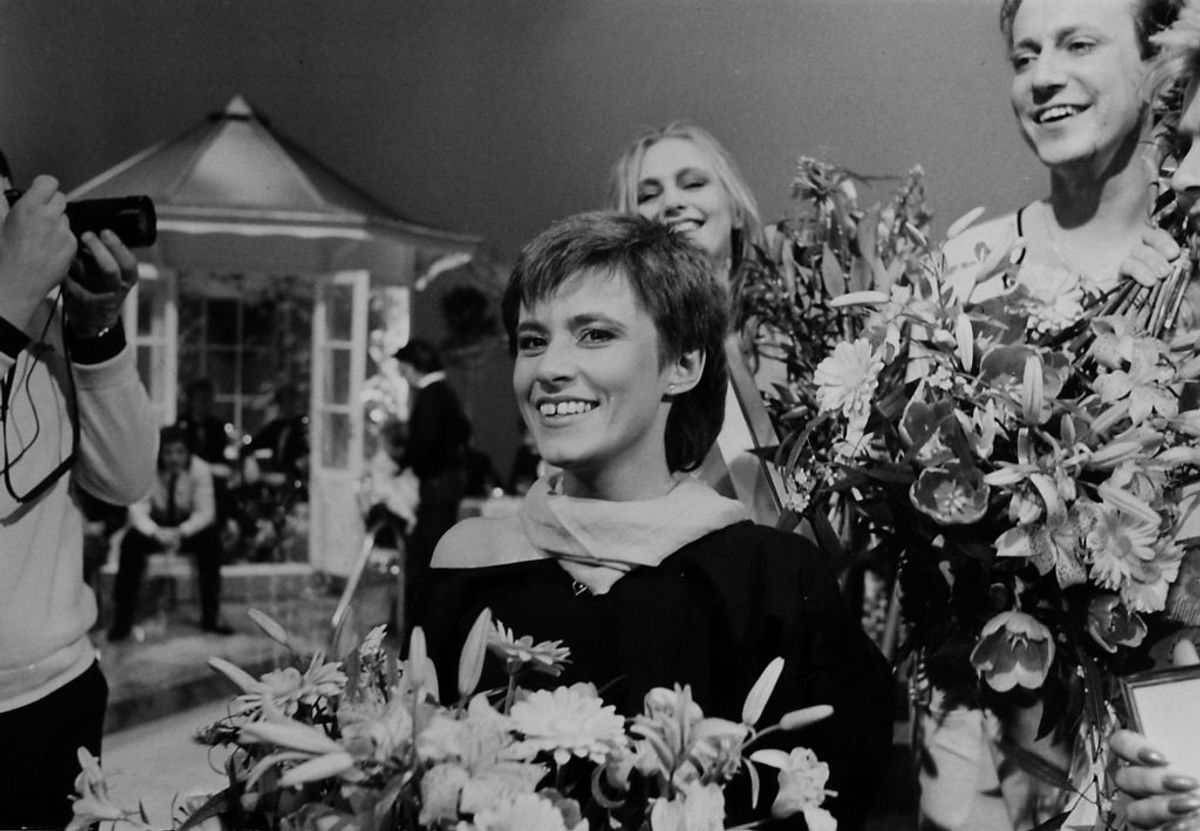 """Kirsten & Søren vandt i 1984 med """"Det' lige det"""". Foto: DR (Arkivfoto)"""