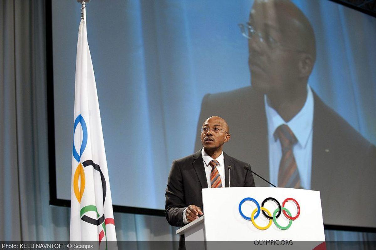 Nu er Frankie Fredericks er suspenderet fra IOC på grund af mistanke om korruption. Foto: Keld Navntoft/Scanpix (Arkivfoto)