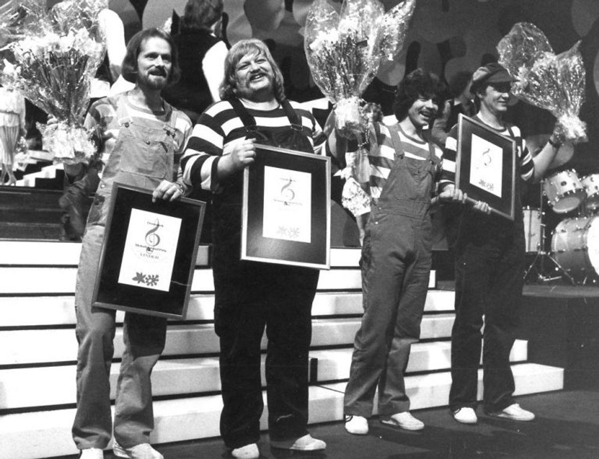 Bamses Venner vinder Dansk Melodi Grand Prix 1980. Foto: Bent K Rasmussen/Scanpix (Arkivfoto)