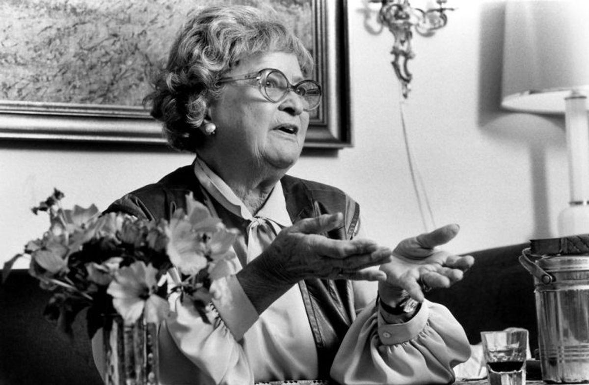 Else Marie Hansen spillede konsulinde Holm. Hun døde den 12. august 2003 i en alder af 98 år. Foto: Mogens Ladegaard/Scanpix (Arkivfoto)