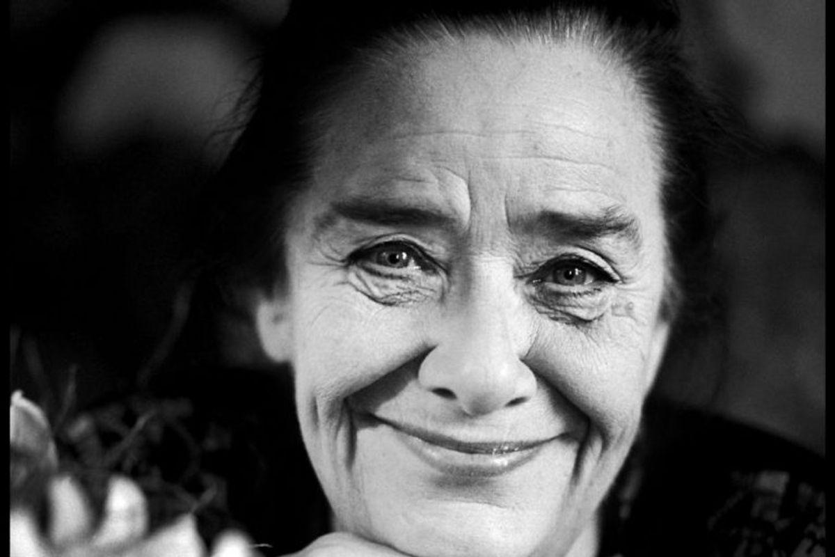 Bodil Udsen spillede murermester Jessens hustru, Sofie. Hun døde 26. februar 2008 i en alder af 83 år. Foto: JAKOB DALL/Scanpix (Arkivfoto)