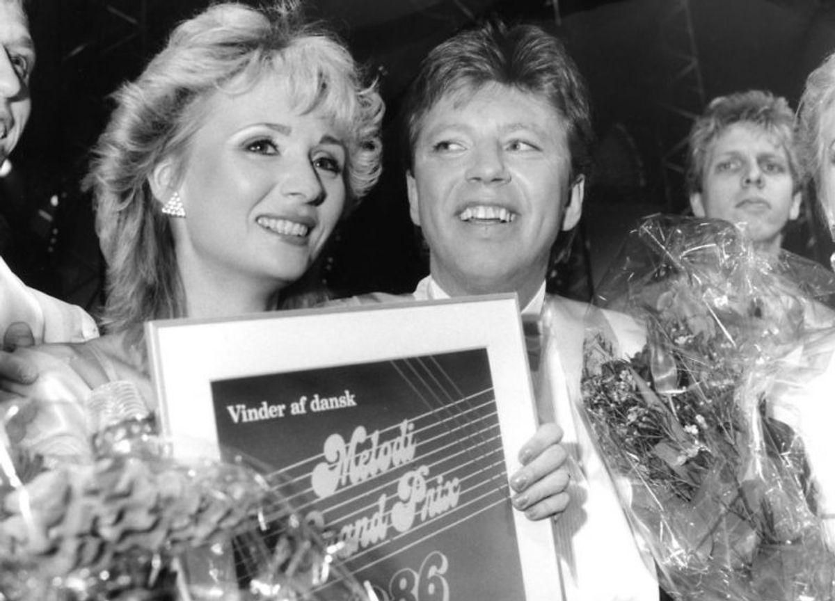 Trax, vandt Dansk Melodi Grand Prix 1986 med sangen Du er fuld af løgn. Foto: Connie Marini/Scanpix (Arkivfoto)