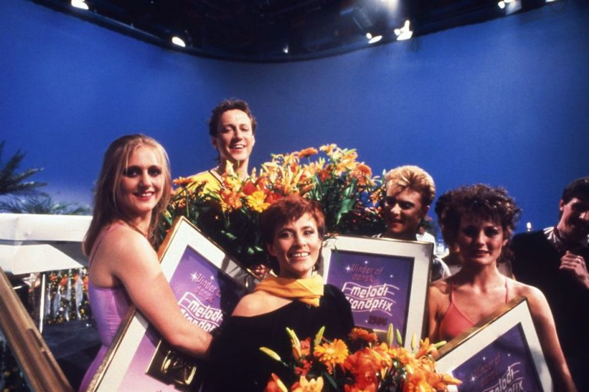 Kirsten og Søren vandt Dansk Melodi Grand Prix i 1984. Foto: Bent K Rasmussen/Scanpix (Arkivfoto)
