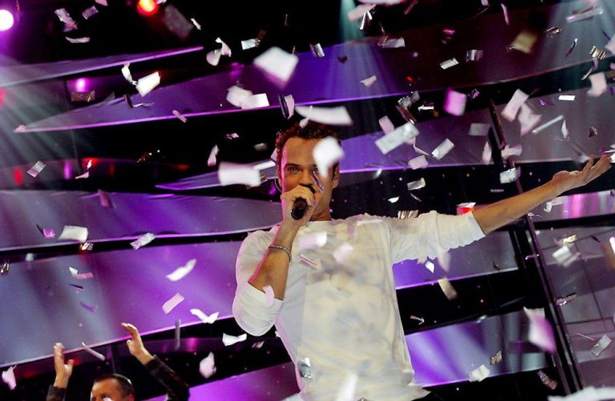 Tomas Thordarson vandt Dansk Melodi Grand Prix 2004 med sangen Sig det'løgn (Shame on you). Foto: Carl Redhead/Scanpix (Arkivfoto)