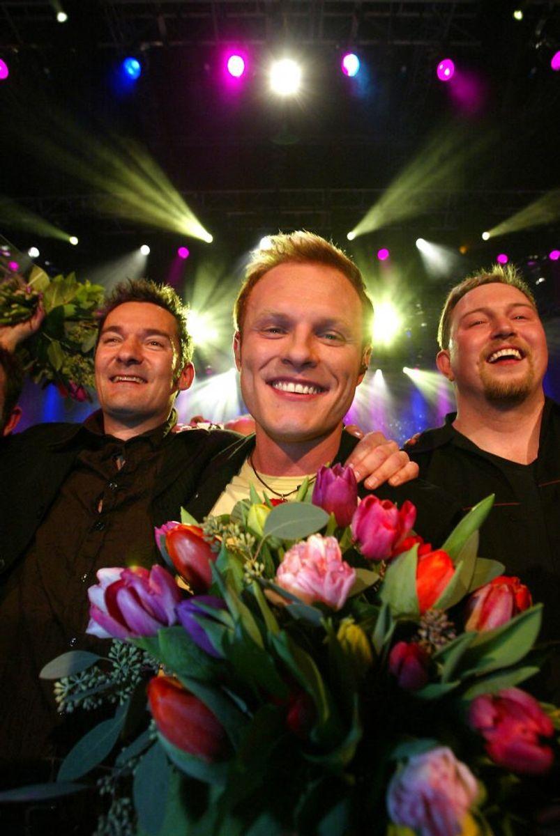 Jakob Sveistrup vandt i 2005 med sangen'Tænder på dig' (Talking to you). Foto: Ernst van Norde/Scanpix (Arkivfoto)