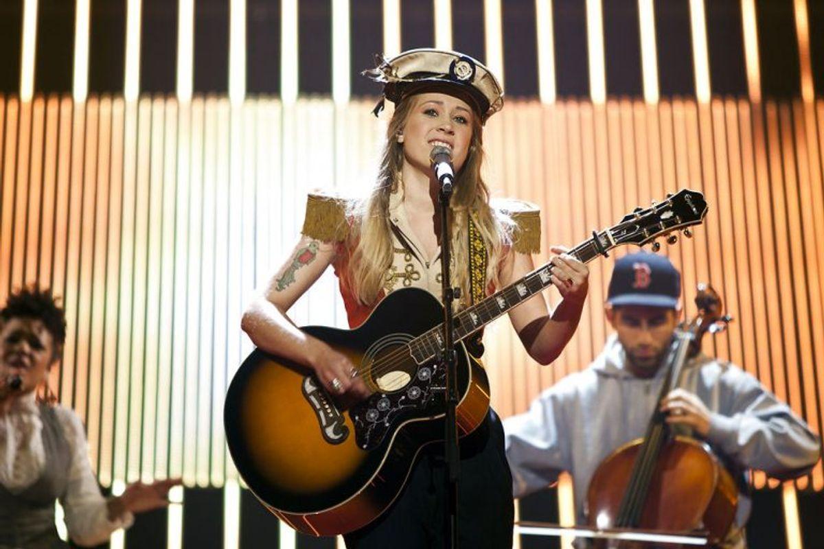Soluna Samay vandt Dansk Melodi Grand Prix 2012 med Should've Known Better. Foto: Camilla Rønde/Scanpix (Arkivfoto)