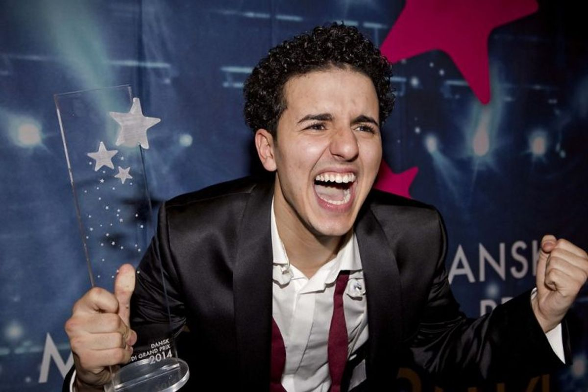 Basim vandt Dansk Melodi Grand Prix 2014 med Cliche Love Song. Foto: Betina Garcia/Scanpix (Arkivfoto)