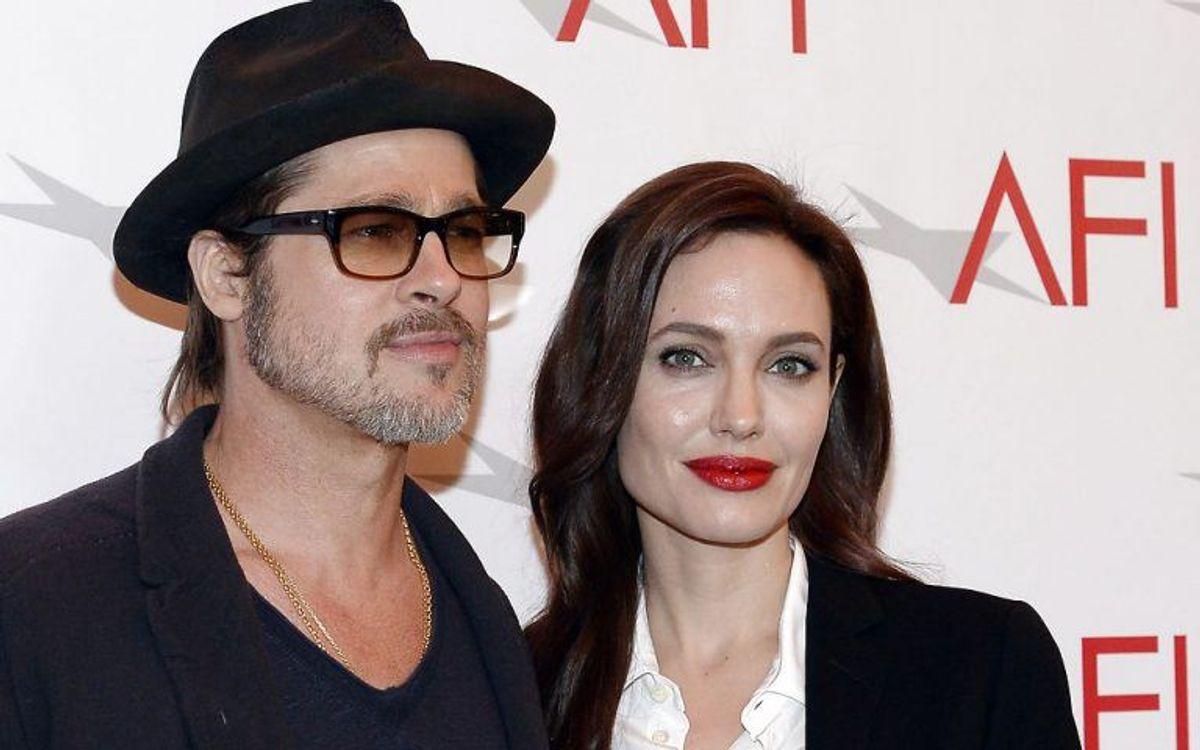 Angelina Jolie og Brad Pitt udkæmper en drabelig kamp i retten. Foto: KEVORK DJANSEZIAN/Scanpix (Arkivfoto)