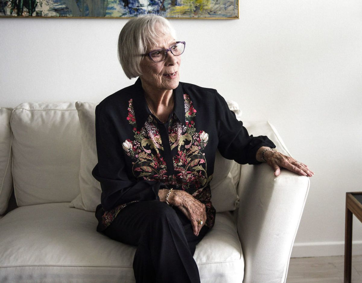 Lily Weiding er gået bort. Hun blev 96 år gammel. Foto: Malene Anthony Nielsen/Ritzau Scanpix