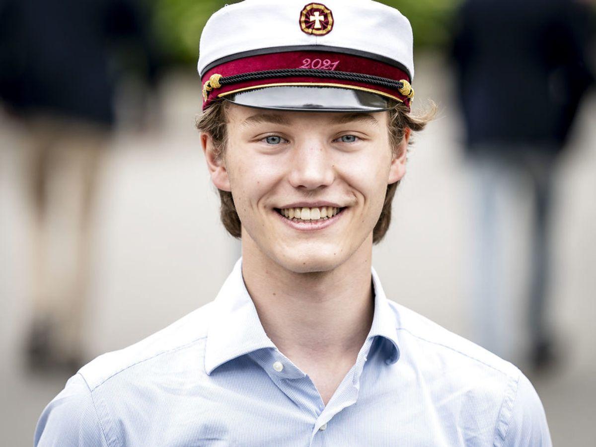Prins Felix har haft en begivenhedsrig sommer. Han er både blevet student og har fået en kæreste. Foto: Scanpix.