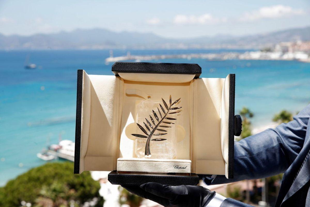 Her er trofæet som alle kæmper om. Den eftertragtede guldpalme. Foto: REUTERS/Gonzalo Fuentes TPX / Scanpix