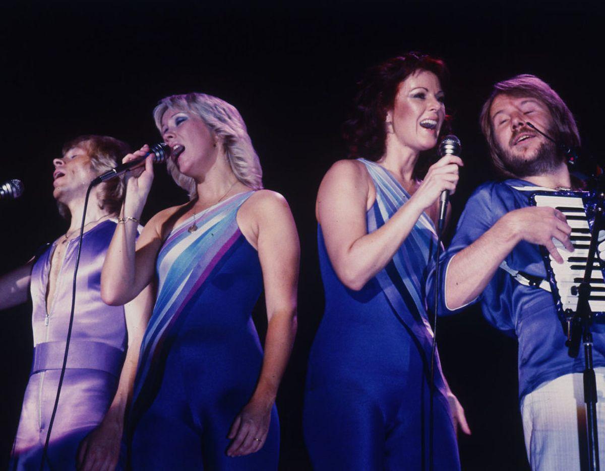 Legendariske ABBA. Fra venstre er det Benny Andersson, Agnetha Fältskog, Anni-Frid Lyngstad og Björn Ulvæus. Foto: Claus Poulsen/Ritzau Scanpix