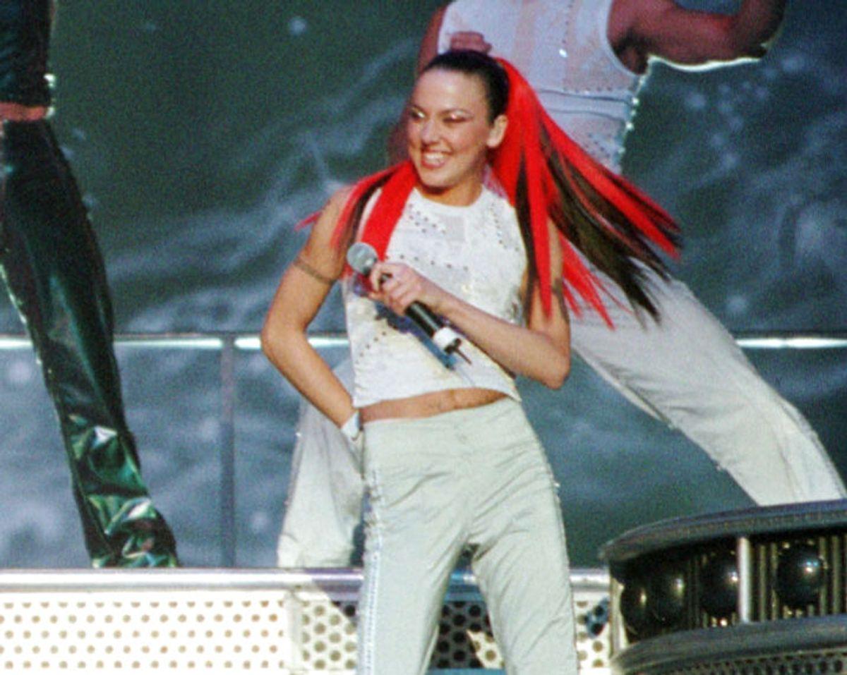 Melanie Chisholm (Sporty Spice) var en del af det oprindelige Spice Girls og kendt for sine tatoveringer, sang og dansetrin. Foto: jc/Photo by Jeff Christensen REUTERS