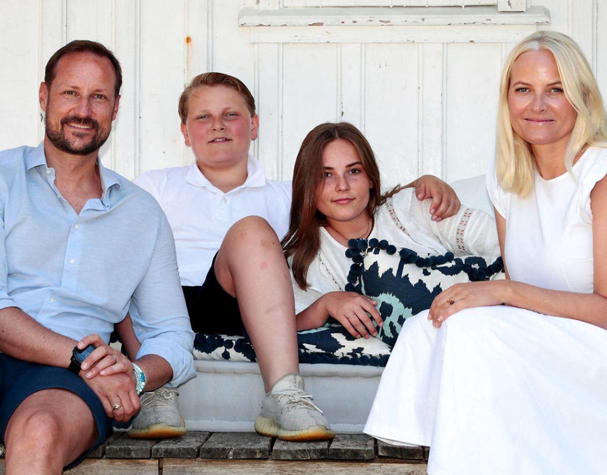 Den norske kronprinsfamilie. Foto: Lise Aserud / NTB scanpix via REUTERS