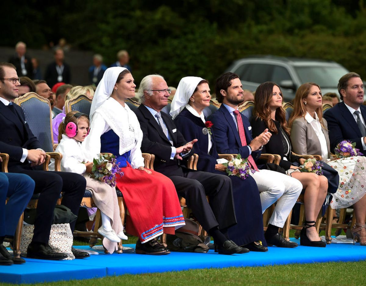 Som alle allerhelst ser det. Hele den nære kongefamilie på plads ved Victoriakoncerten. Billedet her er fra 2016. Foto: Scanpix/TT News Agency/Mikael Fritzon/via REUTERS