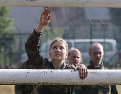 Kronprinsessen startede i militæret for ét år siden. Foto: FRANCOIS WALSCHAERTS/Ritzau Scanpix