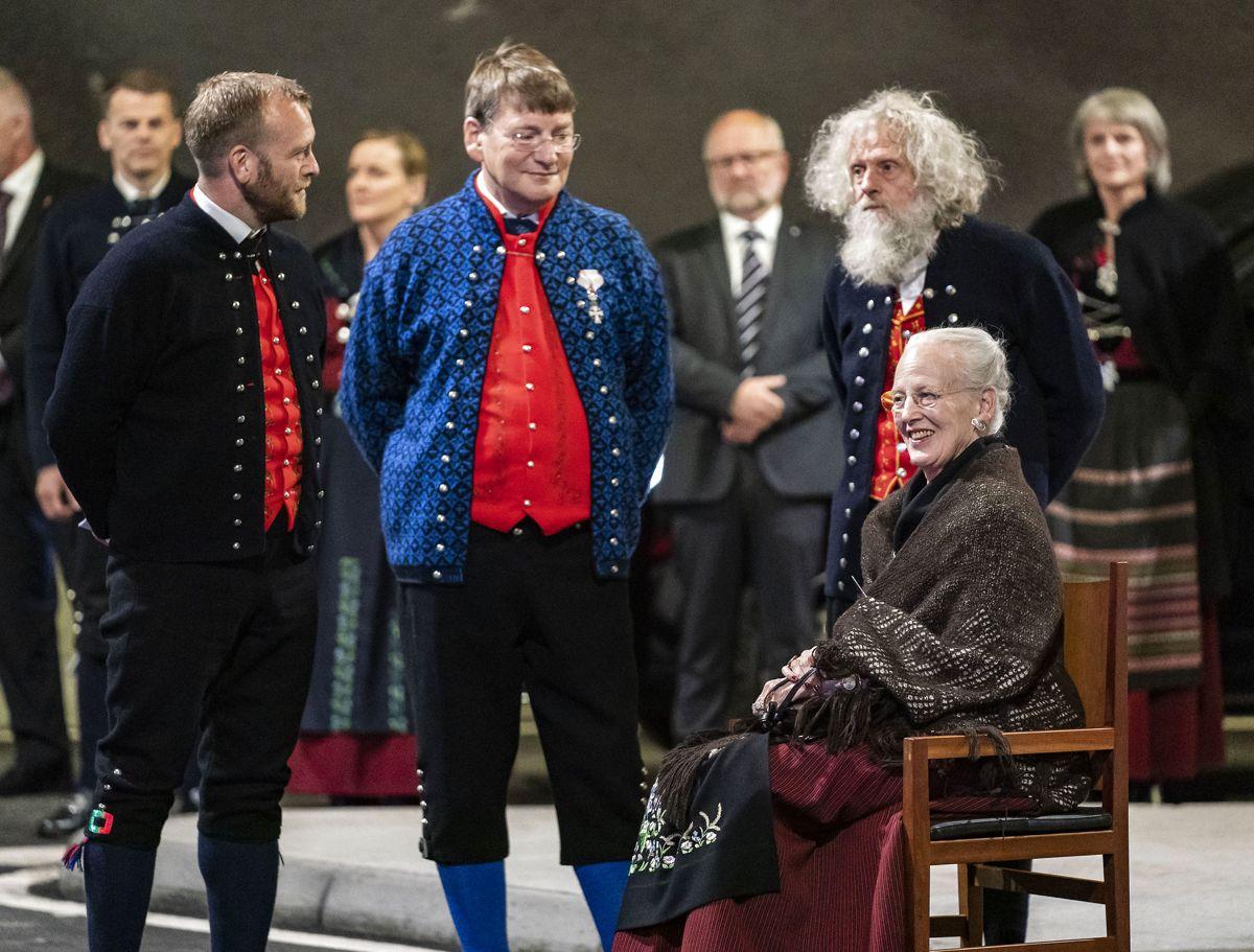 Dronning Margrethe besøger Færøerne. Her besøger familevirksomheden besøger Snældan, Færøerne, søndag den 18. juli 2021. (Foto: Hanne Juul HANNE JUUL/Ritzau Scanpix)