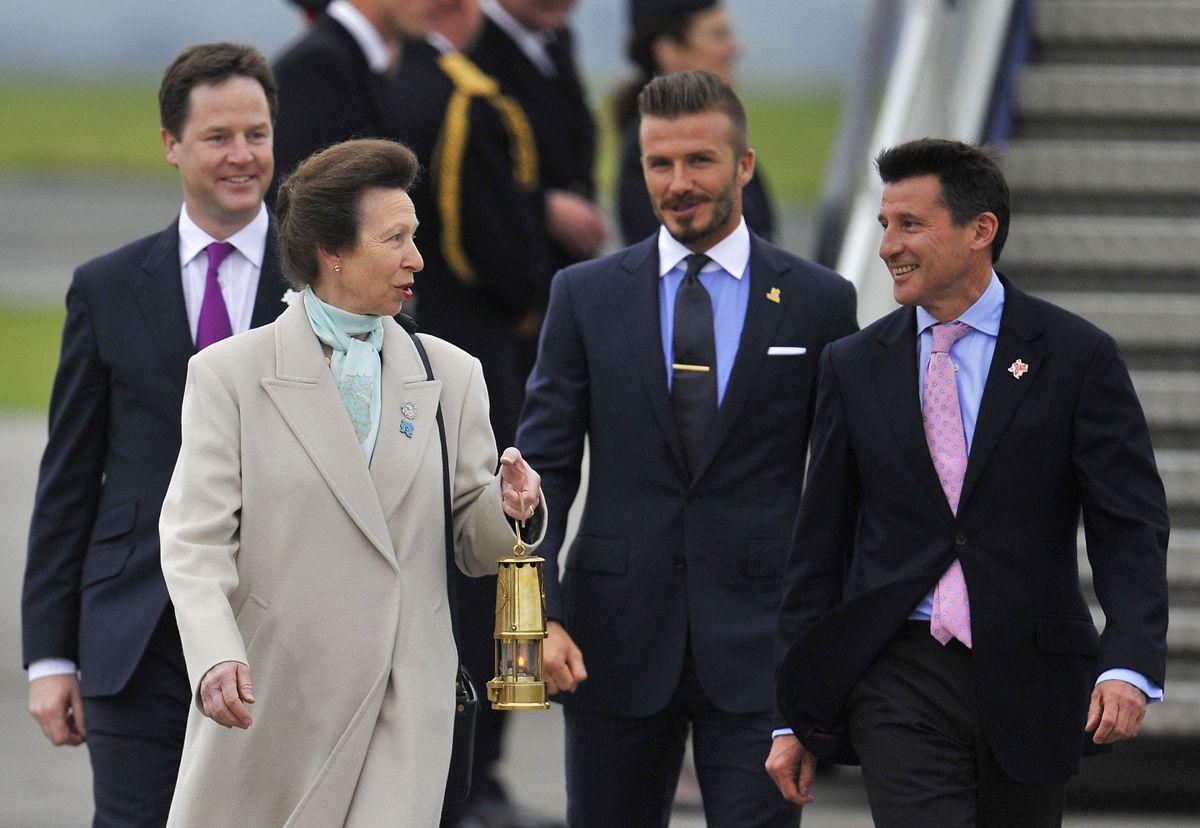 Prinsesse Anne var den første britiske royale, der deltog i De Olympiske Lege. Hun red på dronningens hest Goodwill til OL i 1976 i Montreal. Foto: REUTERS/Toby Melville/Ritzau Scanpix