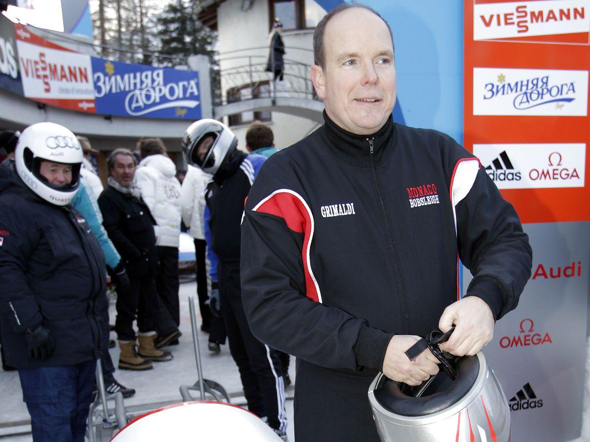Prince Albert II af Monacohar deltaget til hele fem OL i træk i perioden 1988 til 2002 i bobslæde. Foto: REUTERS/Denis Balibouse/Ritzau Scanpix