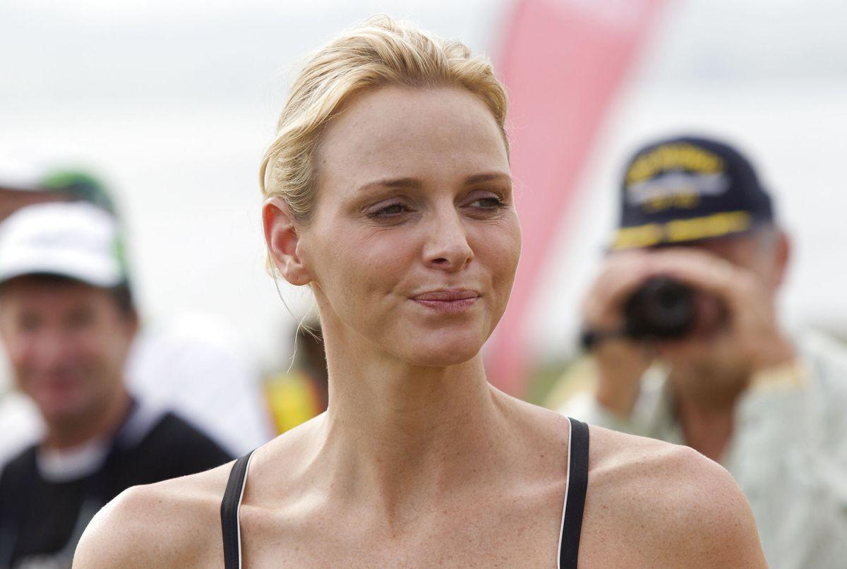 Inden Charlene Wittstock blev gift med prins Albert af Monaco var hun olympisk svømmer for Sydafrika - hun deltog i år 2000 i Syddney. Foto: REUTERS/Rogan Ward/Ritzau Scanpix