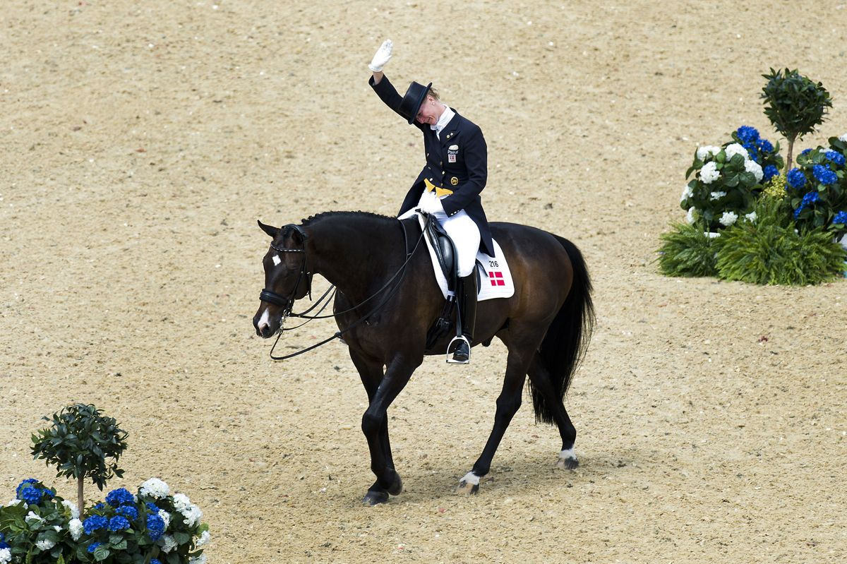 For Danmark harPrinsesse Nathalie Zu Sayn-Wittgenstein og hesten Digby været i aktion i dressurkonkurrencen ved OL i London. Foto: Søren Bidstrup / Ritzau Scanpix
