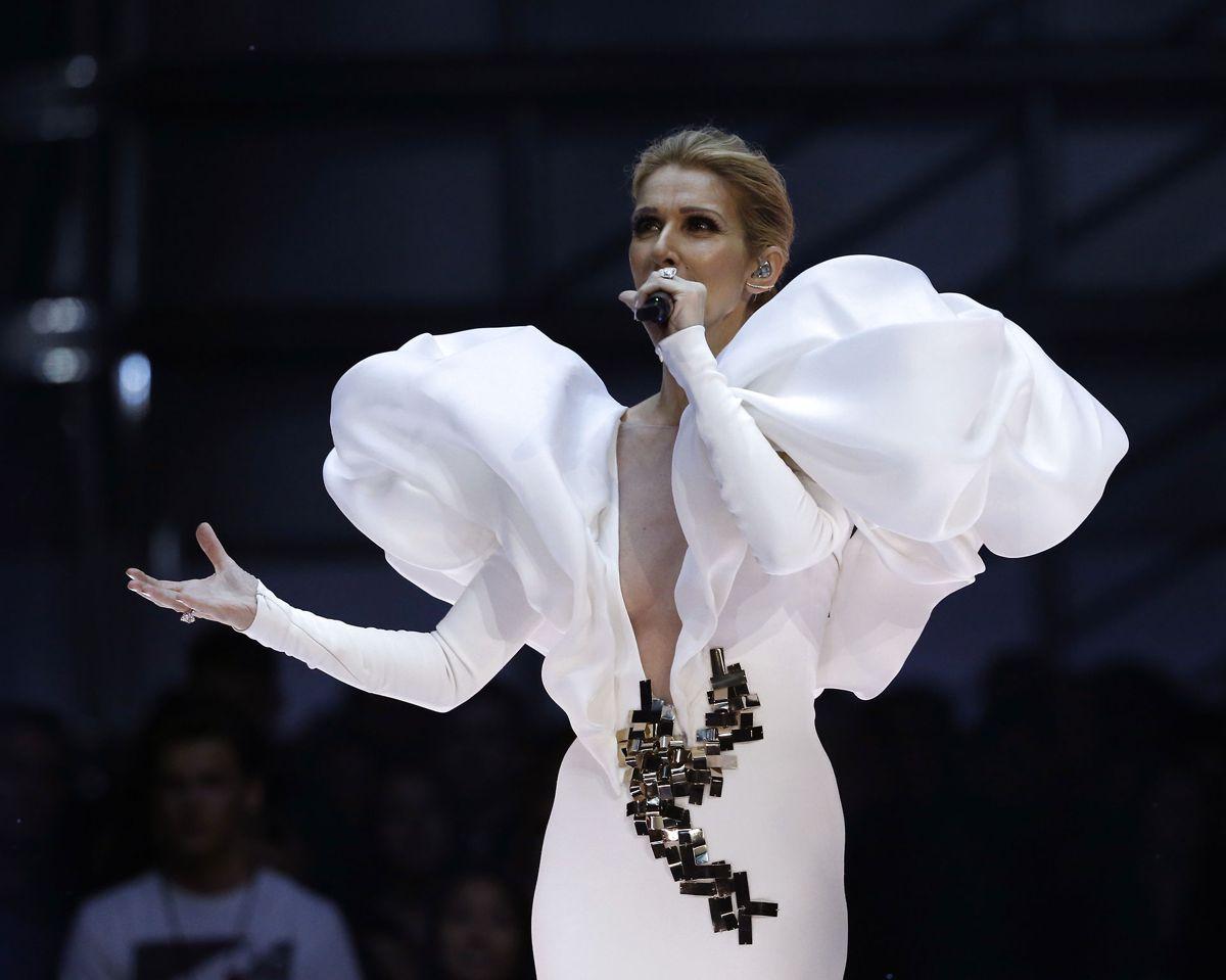 Nummer 3: Celine Dion optrådte med 23 shows på hendes Courage World Tour inden pandemien satte ind. Og det svarer til 98% af hendes indtægter for året. Sangerinden tjente 110,3 millioner kroner. Foto: REUTERS/Mario Anzuoni/Ritzau Scanpix