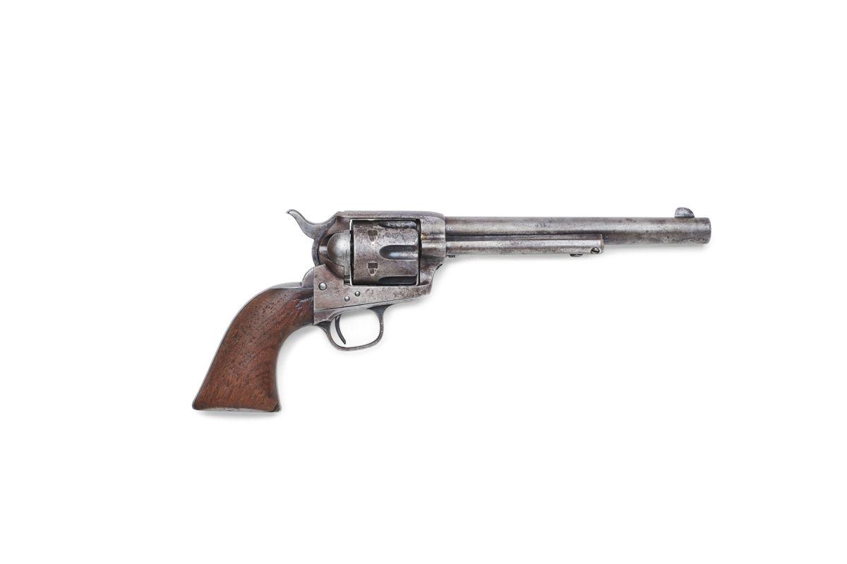 Colt-revolveren, som sherif Pat Garrett i 1881 brugte til at dræbe den lovløse Billy the Kid med, ventes at få et hammerslag på op til 19 millioner kroner. Revolveren bliver solgt på en auktion i Los Angeles i slutningen af august. (Arkivfoto)