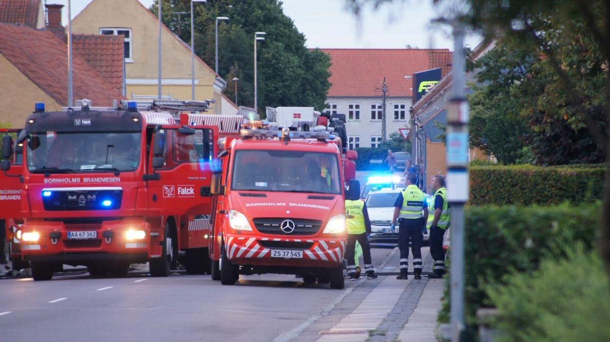 Tekniske undersøgelser har vist, at villabranden på Paradisvej i Nexø var påsat. Foto: presse-fotos.dk