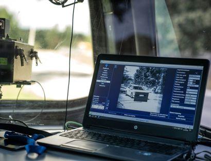 Politiets fotovogn fik blitzen rigtig mange billister på Bornholm tirsdag. Arkivfoto.