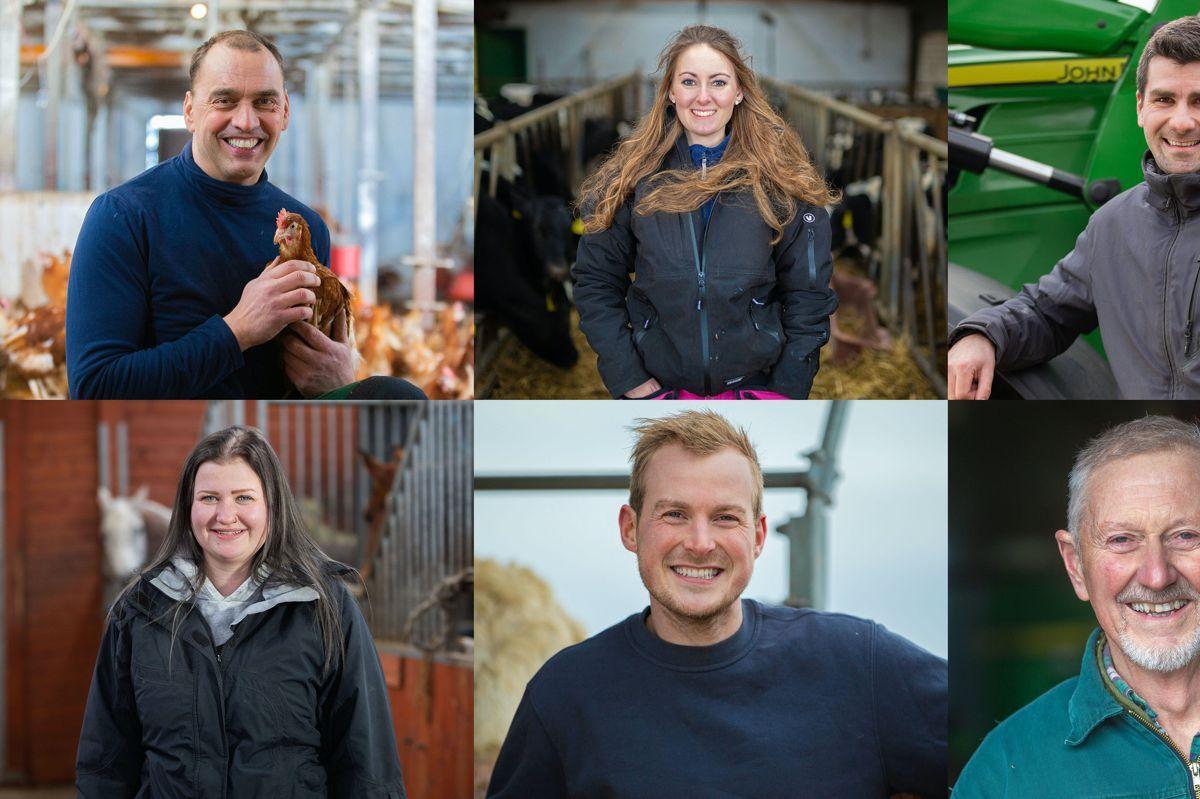Årets seks landmænd spænder bredt i forhold til alder. Den yngste landmand er 21 år, mens den ældste er 73.