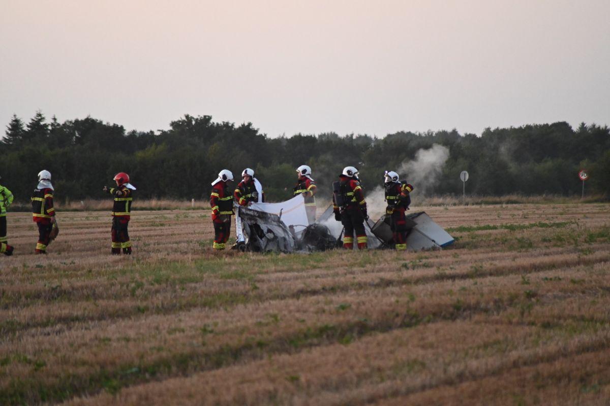 Flystyrtet skete, da manden var ved at lette, fortæller vagtchefen. (Du kan se et billede mere fra den voldsomme ulykke i bunden af artiklen)