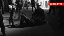 Betjent skadet under dramatisk anholdelse