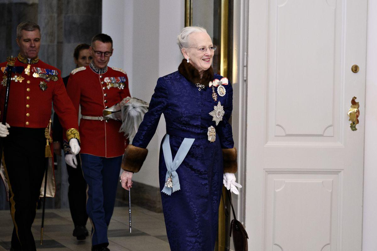 Dronning Margrethe er vært for den årlige nytårskur, der vender tilbage i 2022, efter at den måtte aflyses i 2021. (Arkivfoto)