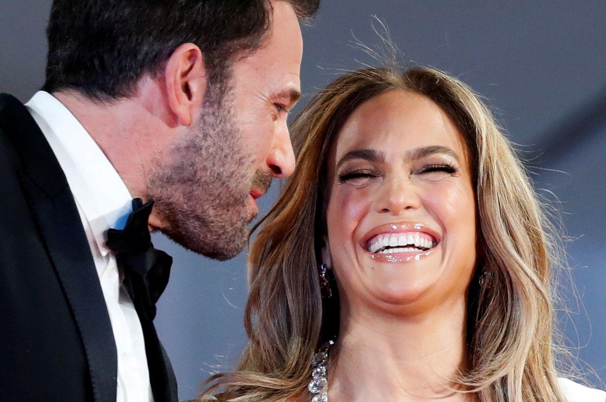 Bennifer, som parret kaldes i USA, ved forevisningen af filmen 'The Last Duel', der har Affleck på rollelisten.