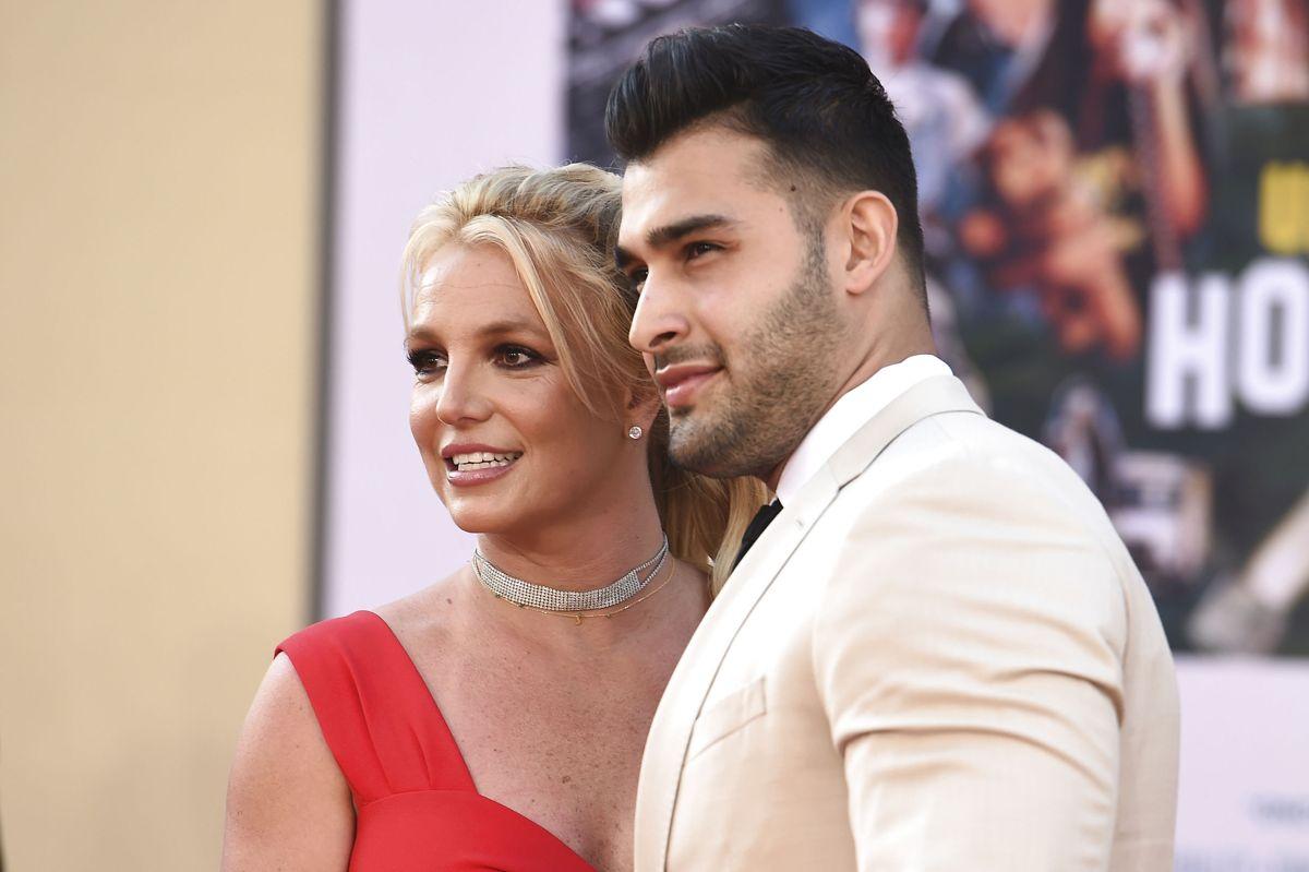 Britney Spears og Sam Asghari mødte hinanden i 2016 under indspilningen af en musikvideo. (Arkivfoto)
