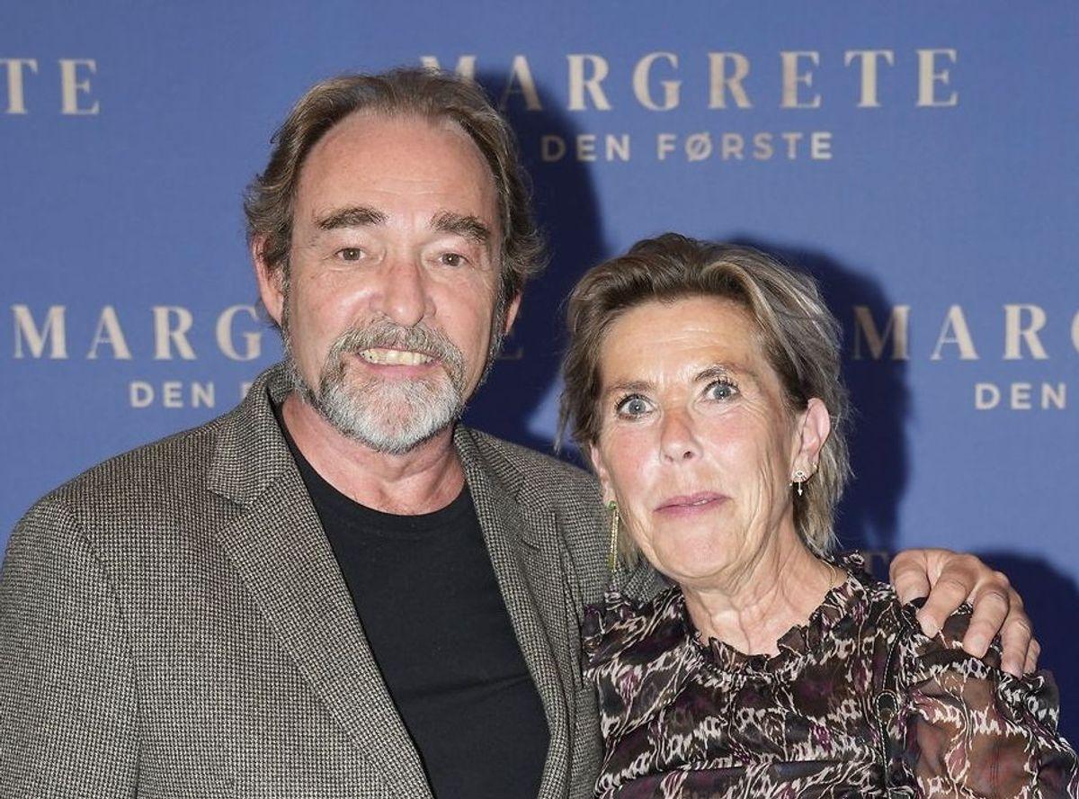 Martin Miehe-Renard og Karin Jagd i forbindelse med gallapremieren på filmen 'Margrete den første' i Imperial Bio i København, onsdag i sidste uge.